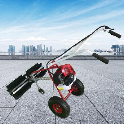43cc 2-stroke Hand-held Gas Power Push Sweeper Cart Walking Cleaning Machine