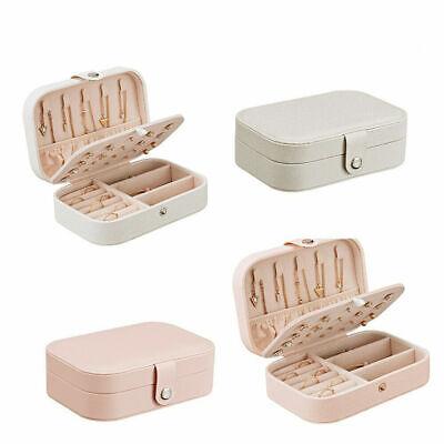 Jewellery - UK Travel PU Leather Jewelry Storage Box Case Holder Earring Necklace Organizer