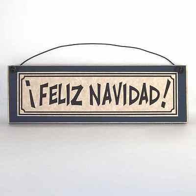 FELIZ NAVIDAD wood Sign Plaque Spanish Christmas Decorations - Feliz Navidad Decorations