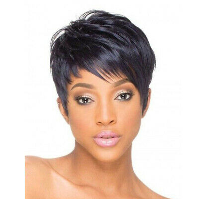 Synthetic Short Wigs for Black Women Pixie Cut Hair Cheap Wigs with Bangs  - Wigs For Women Cheap