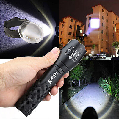 Ultrafire Tactical T6 Cree Led Flashlight Torch 10000lm Zoomable Military Light