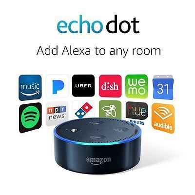 Amazon Echo Dot With Alexa Voice Media Device  2Nd Generation  Black New