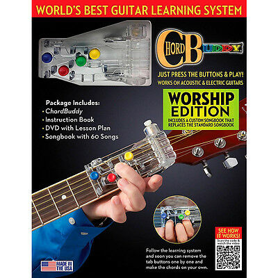 ChordBuddy Worship Ed. Guitar Learning System Including Book / Dvd & Chord Buddy