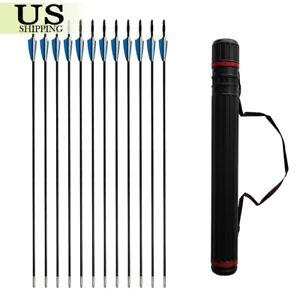 12pcs Archery Fiberglass Arrows 31
