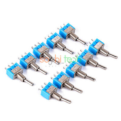 2510pcs 3 Pin Mini Spdt Mts-102 On-on Ac Miniature Toggle Switches 6a 125v