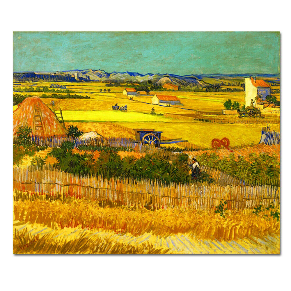 Canvas Print Picture Van Gogh Painting Home Decor Wall Art Golden ...