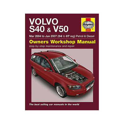 Volvo S40 V50 1.8 2.0 2.4 Petrol 2.0 TD 04-07 (04 to 07 Reg) Haynes Manual