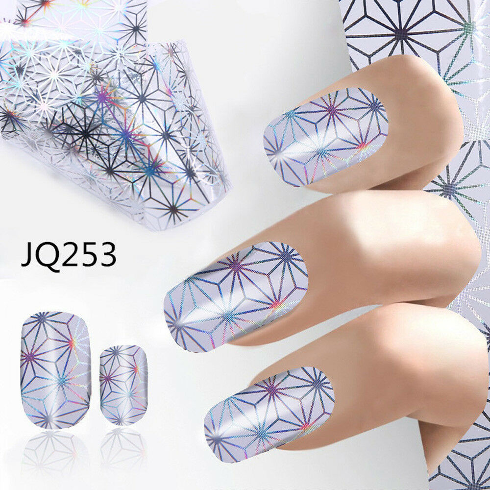 4*100CM Design Nail Art Foil Stickers Transfer Decal Tips Manicure