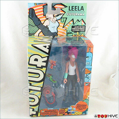 Futurama Leela 2007 collectible figure by Toynami with build a robot devil part