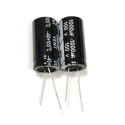 5pcs 100v 1000uf 100volt 1000mfd Electrolytic Capacitor 1835mm Radial