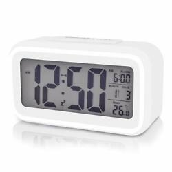 Digital Alarm Clock LCD Large Display Snooze Temperature Smart Time Date NEW