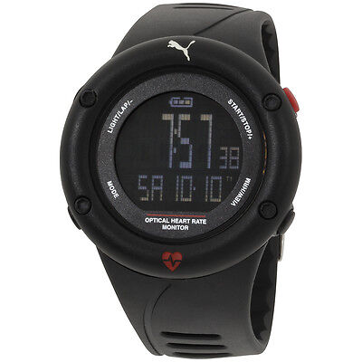 Puma Optical Cardiac Black Dial Plastic Strap Men's Watch PU911291001