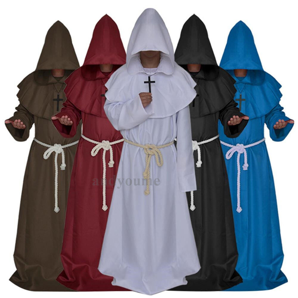 Medieval Clergy Clothing Monk Costume Medieval ...