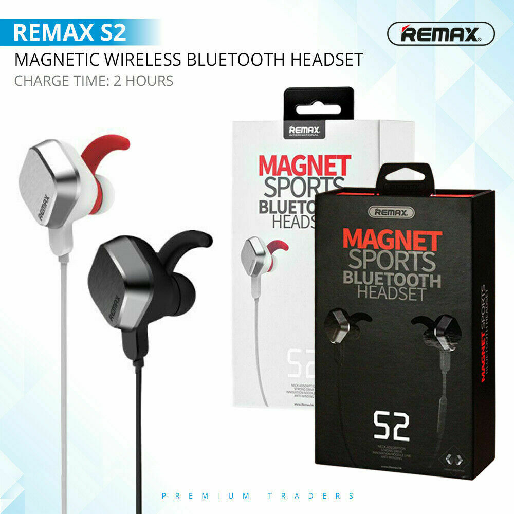 Remax S2 Sports Magnetic Wireless Bluetooth Headphone Stereo Earphones Earbuds Ebay