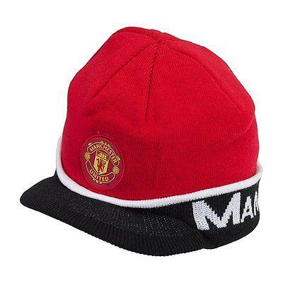 Manchester United Beanie - Manchester United Visor Red  Beanie MUFC Cap Hat  By Rhinox