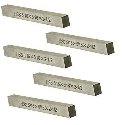 """5PC-5/16"""" X 5/16"""" X 2-1/2"""" HSS Tool Bit Rectangular Lathe Fly Cutter Mill Blank"""