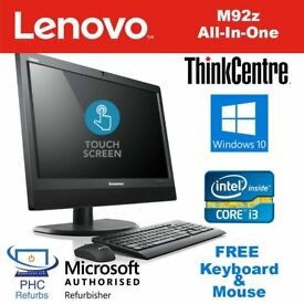 Lenovo ALL IN ONE Windows 10 Core i3 Touchscreen Desktop Computer