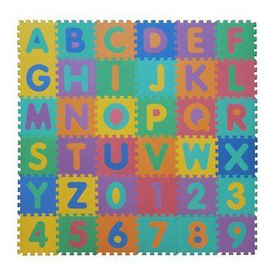 Tappeto puzzle in EVA - tappeto da gioco per bambini LETTERE & NUMERI (86 pezzi)