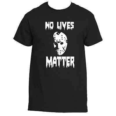 Friday The 13th Jason Voorhees No Lives Matter Halloween  Tee shirt (Jason Voorhees Halloween)