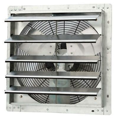 Shutter Exhaust Fan 1750 Cfm Power 18 In. Variable Speed Galvanized Steel Wall