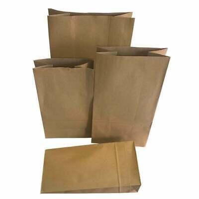 100 x Block Bottom Brown Kraft Paper Bags 200 x 120 x 380 mm