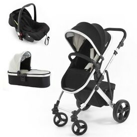 Pushchair with carrycot and pushchair.