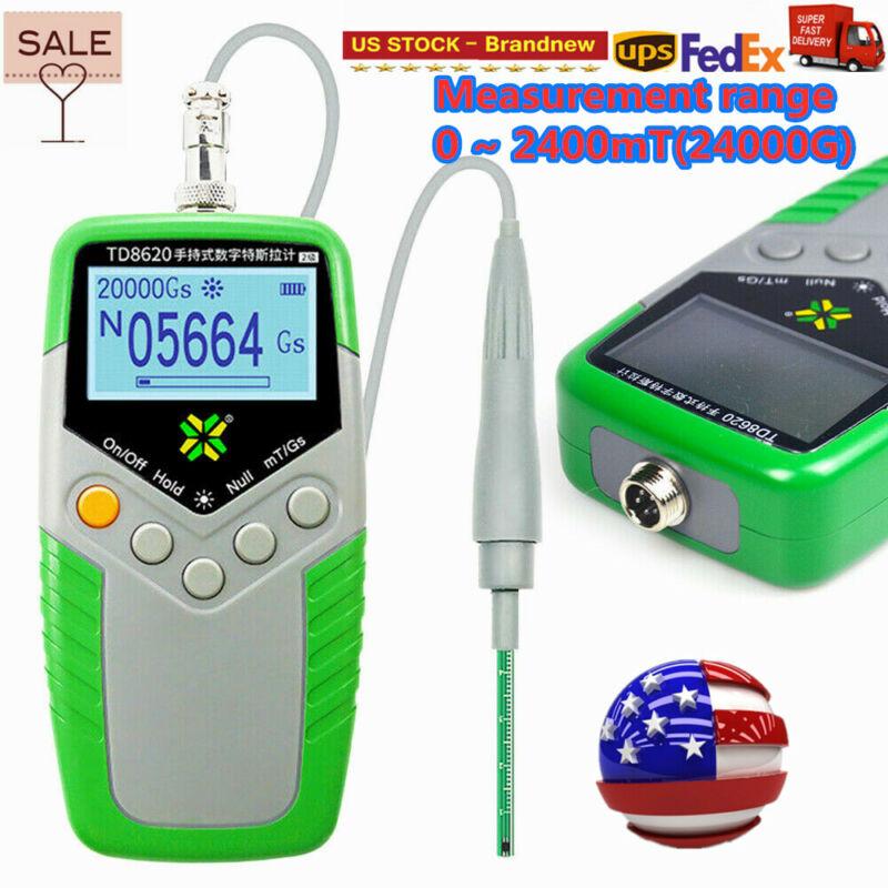 TD8620 Hand-held Digital Gauss Meter Surface Magnetic Flux Meter mT/Gs USA