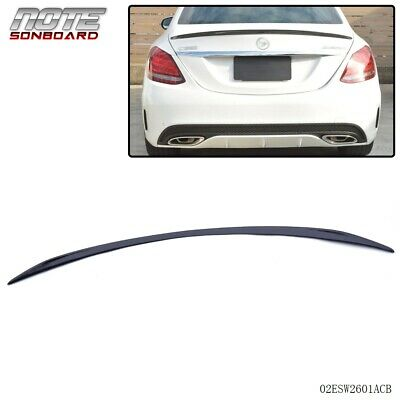 For Mercedes Benz W205 C-Class C63 C300 Carbon Fiber Rear Trunk Spoiler 14-16
