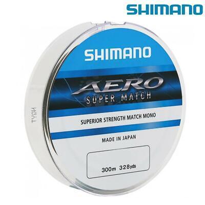 SHIMANO AERO SUPER MATCH 300M SPOOL NEW FISHING LINE MONO CHOOSE BREAKING STRAIN