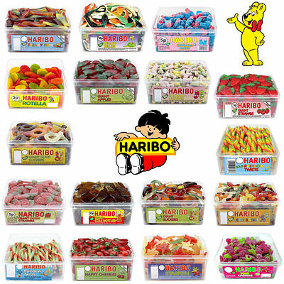 1 X FULL TUB HARIBO SWEETS CANDY PARTY BAG CHRISTMAS STOCKING OR TREAT BAG SWEET
