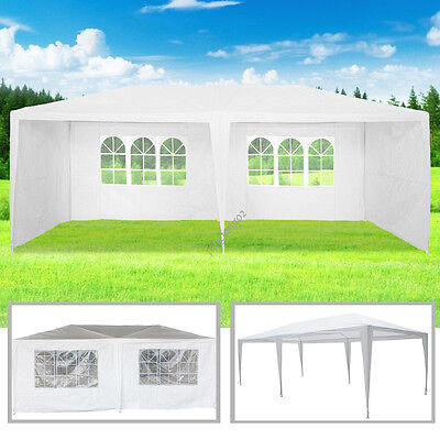 3 x 6m Waterproof Gazebo Awning PE Garden Party Tent Marquee Canopy White 120g
