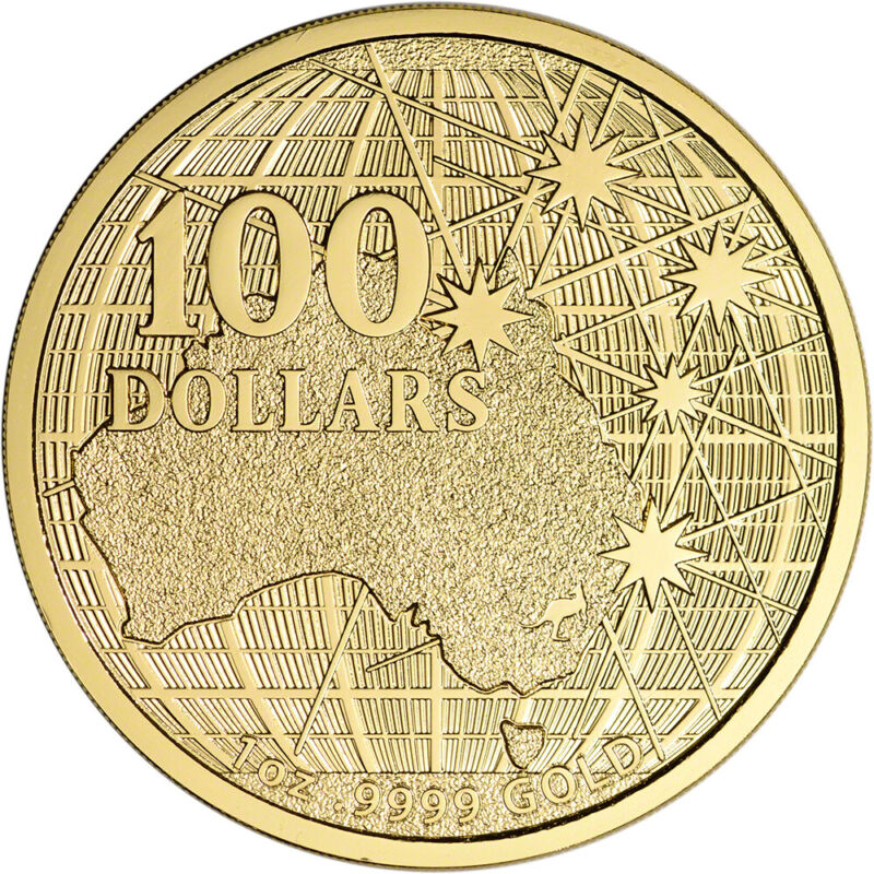 2020 Australia Gold 1 oz Beneath the Southern Skies $100 - BU in Mint Capsule