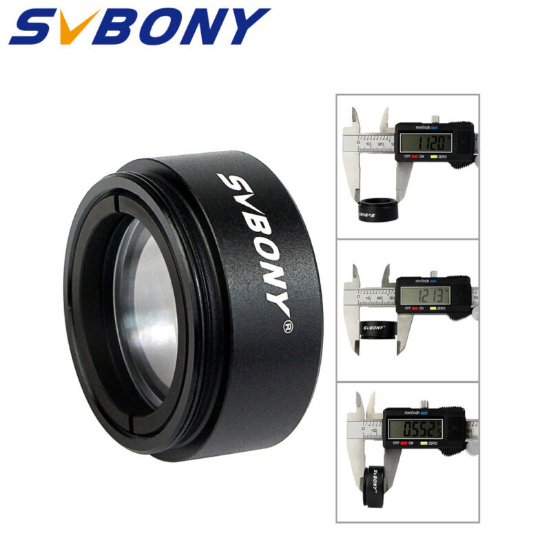 """SVBONY 1.25""""Telescopes 0.5 Focal Reducer Threads M28.5x0.6 for 31.75mm Eyepieces"""