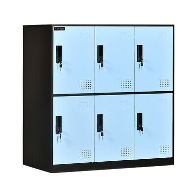 6 Door Locker Office Storage Locker Home And School Storage Locker Metal Locker