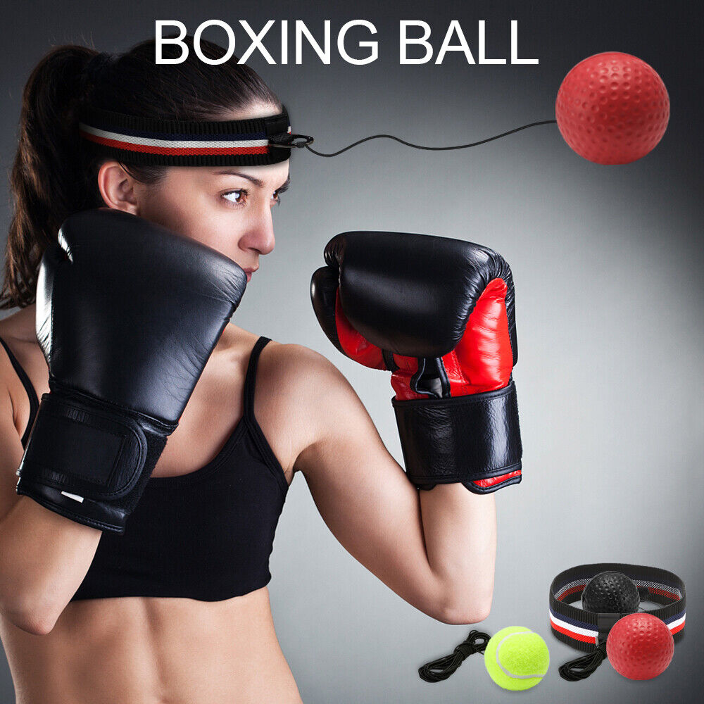 3Pack Boxing Fight Ball Head Band Reflex Speed Reaction Training Muscle Exercise