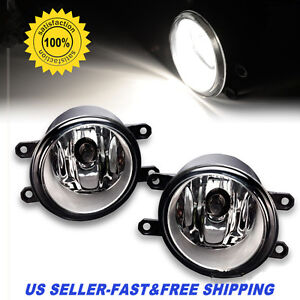 Pair of Fog Light Lamp Left Right RH LH Side Fit For Toyota Camry Yaris Lexus US