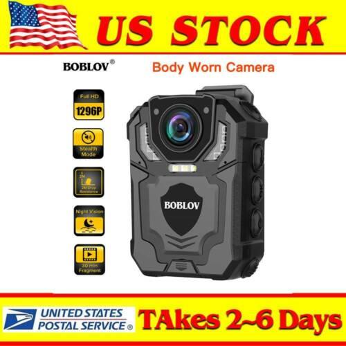4K HD 1296P Body Worn Camera IR Night Vision Pocket Security