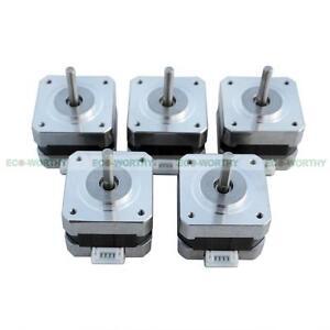 5pcs dc 12v nema 17 stepper motors kits for cnc reprap 3d for Servo motor 12v dc