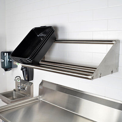 42 Wall Mounted Nsf Stainless Steel Restaurant Glass Dish Rack Shelf