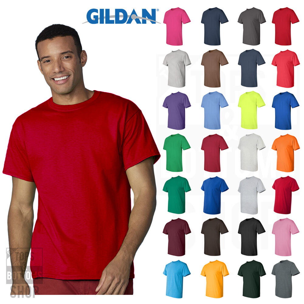Gildan Ultra Cotton Mens Short Sleeve Tee Plain Blank Solid T-Shirt - 2000