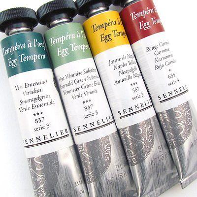 Tempera Paint Tube (Sennelier Artists Egg Tempera 21ml Tubes. Artists Permanent Paint Tube.)