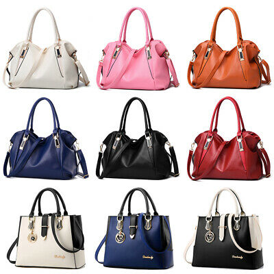 Women Messenger Handbag Shoulder Bag Ladies PU Tote Satchel Crossbody Purse