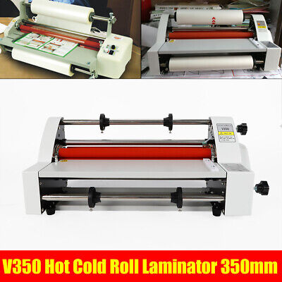 13hot Cold Roll Laminator Speed Adjustable Four Roller Hot Cold Laminating Tool