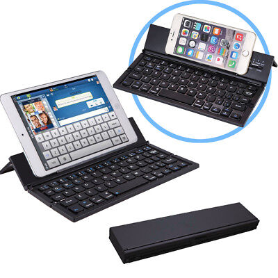 Bluetooth Folding Keyboard for Tablets, Smartphones, iPhones, iPads, Android