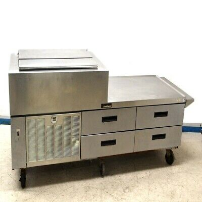Delfield F18mc68 Commercial Ss Prep Station 4-drawer Refrigerated Cooler