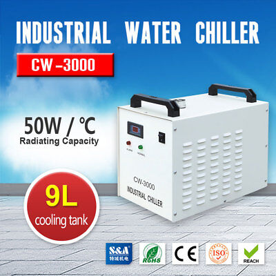 Usa Sa 110v Industrial Water Chiller Cw-3000dg For 60w 80w Cnc Laser Engraver