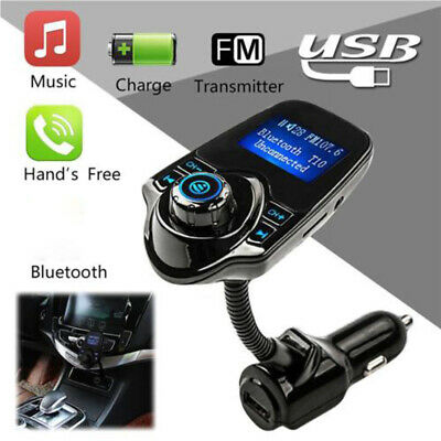 Car FM RF Transmitter Bluetooth Adapter Mobile Phone Handfree MP3 Audio Cable