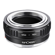 K&F Concept Adapter for M42 Screw Lens to Sony E-Mount Camera NEX A7 a7 a7R