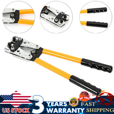 6 - 50 Mm Cable Crimper Anderson Plug Wire Crimping Tool Electric Tube Lug Hex