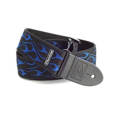 Dunlop D38-11BL Flambe Blue Guitar Strap +Picks